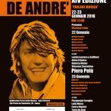 La locandina della XIV edizione del Premio Fabrizio De André «Parlare Musica»
