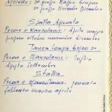 Appunti di Fabrizio De André per il bosco dell'Agnata (Fondazione Fabrizio De André Onlus)