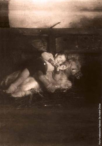 Fabrizio nel 1944 alla Cascina dell'Orto.