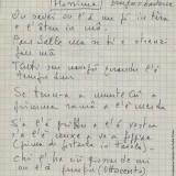 Appunti di Fabrizio De André preparatori alla stesura di 'Â çimma (Fondazione Fabrizio De André Onlus)