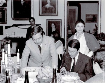 Fabrizio con Paolo Villaggio e l'attrice Marzia Ubaldi a casa dell'amica Lorenza Bozano, Genova 1966