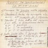 Appunti di Fabrizio sui lavori da completare a fine diga (Fondazione Fabrizio De André Onlus)