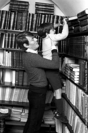 Fabrizio con il figlio Cristiano nel 1972