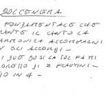 Un appunto di Fabrizio De André sull'esecuzione diDolcenera(Fondazione Fabrizio De André Onlus)