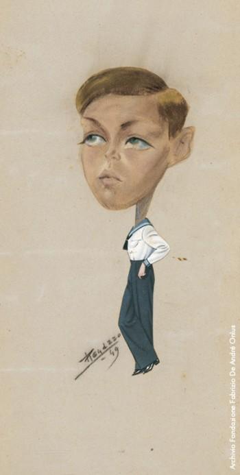 Ritratto di Fabrizio vestito da marinaretto, 1949