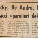 Estratto da «Il Corriere Mercantile», 15 ottobre 1969