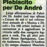 Estratto dalla prima pagina di «Musica&Dischi», dicembre 1984
