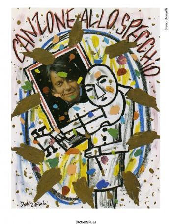 Fabrizio visto da Bruno Donzelli, 1999.Dalla mostra «Segni De André» e volume omonimo a cura di Vincenzo Mollica, Edizioni Di, 1999.