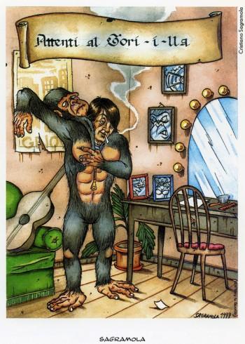 Cristiano Sagramola, «Attenti al golilla», 1999. Dalla mostra «Segni De André» e volume omonimo a cura di Vincenzo Mollica, Edizioni Di, 1999.