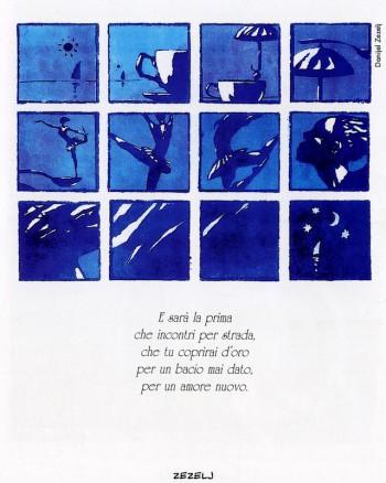 Danijel Zezelj, 1999. Dalla mostra «Segni De André» e volume omonimo a cura di Vincenzo Mollica, Edizioni Di, 1999.