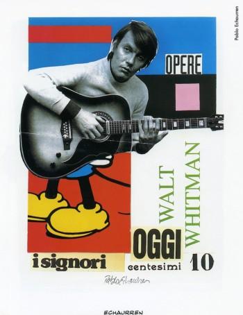 Fabrizio visto daPablo Echaurren, 1999.Dalla mostra «Segni De André» e volume omonimo a cura di Vincenzo Mollica, Edizioni Di, 1999.