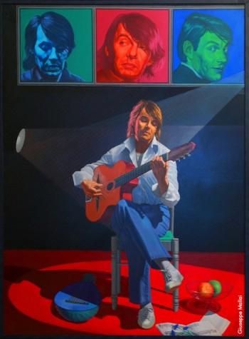 Fabrizio visto da Giuseppe Mallai, olio su tela (cm 150x200), 2003.