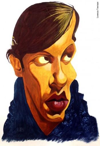 Fabrizio visto da Lorenzo Trevisan, olio su carta, 2004