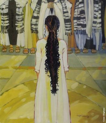 Cinzia Ghigliano, «L'infanzia di Maria», 2005.Da «Se parole e suoni fossero colori. Fabrizio De André interpretato da Cinzia Ghigliano».