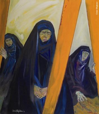 Cinzia Ghigliano, «Tre madri», 2005.Da «Se parole e suoni fossero colori. Fabrizio De André interpretato da Cinzia Ghigliano».