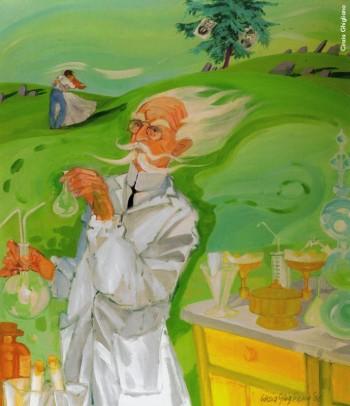 Cinzia Ghigliano, «Un chimico», 2008. Da «Tradurre con il colore. Tante sono le strade della poesia. Cinzia Ghigliano e L'Antologia di Spoon River di E. Lee Masters».