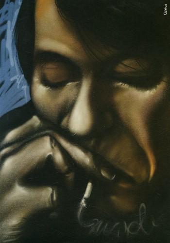 Fabrizio visto da Caktus, 2009.Dalla mostra «Le nuvole di De André»a cura di Vincenzo Mollicae pubblicazione omonima, Edizioni Di, 2009.