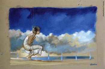 Massimiliano Frezzato, 2009.Dalla mostra «Le nuvole di De André»a cura di Vincenzo Mollicae pubblicazione omonima, Edizioni Di, 2009.