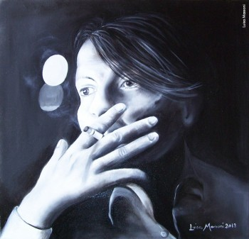 Fabrizio visto da Luisa Massoni, olio su tela, 2013