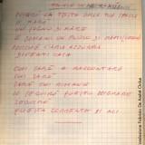 Appunti di Fabrizio De André preparatori alla stesura diKhorakhané(Fondazione Fabrizio De André Onlus)