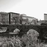 Lo scheletro del ponte di sant'Agata, distrutto nell'alluvione del 1970 e cantato da Fabrizio in Dolcenera