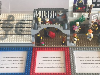 Rappresentazione in Lego® del brano Bocca di rosa. Alfonso Parmeggiani, 2018