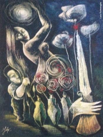 Luca Pontassuglia, «Il colore degli ultimi», 2016. Opera vincitrice della XV edizione del Premio Fabrizio De André «Parlare Musica» - Premio sezione Pittura.